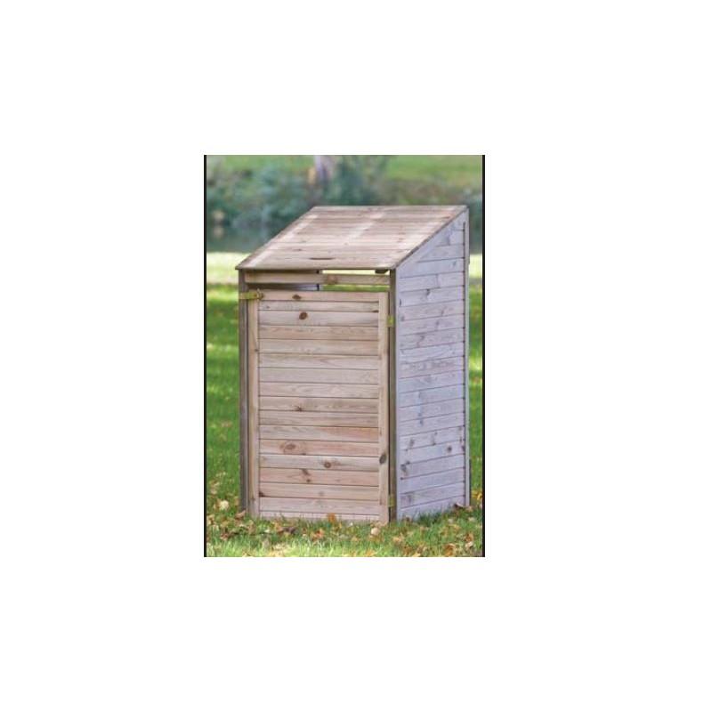 Abri cache poubelles simple en bois epaisseur 12mm - Abri a poubelle ...