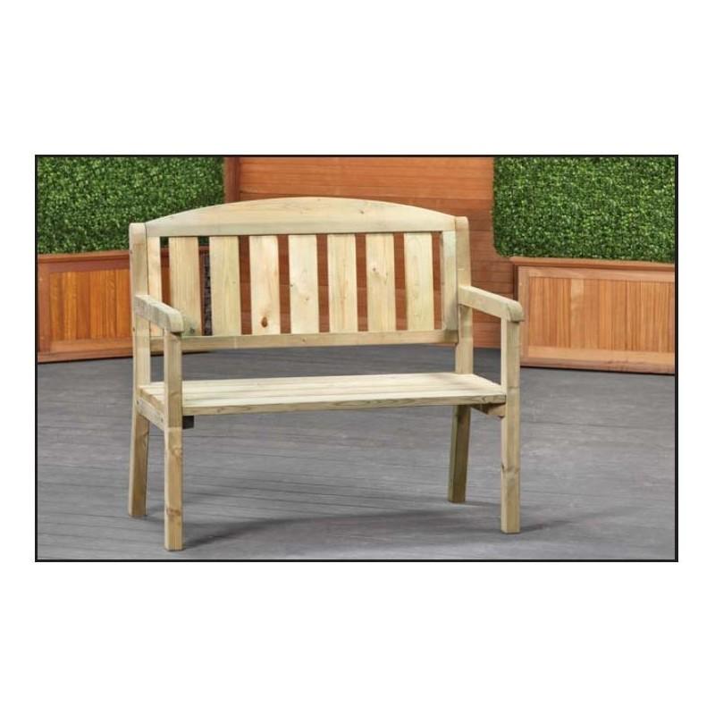 Banc de jardin en bois pin impregne pas cher longeur 120 - Bac de jardin en bois ...