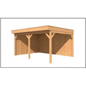 Abri de jardin chalet de loisir habitable cabane de for Sauna exterieur toit plat