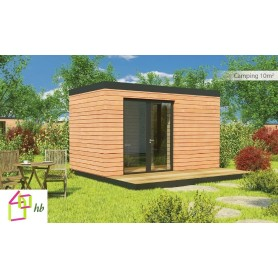 Hll habitation l g re de loisir chalet en bois maison for Extension maison 10m2