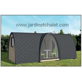 abri de jardin studio en kit cabane de jardin toit plat. Black Bedroom Furniture Sets. Home Design Ideas