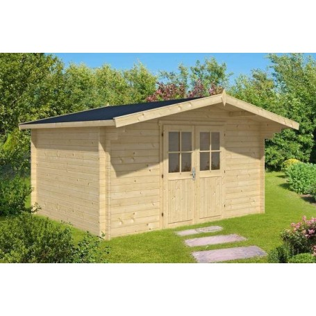 Chalet bois 14m2 400x350cm SUMMER TIME