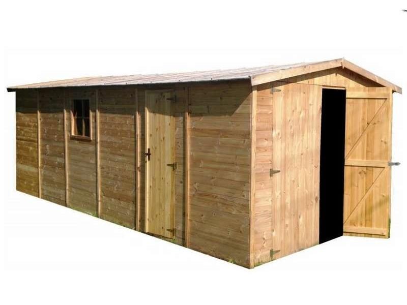 Garage en bois 16,5 m2