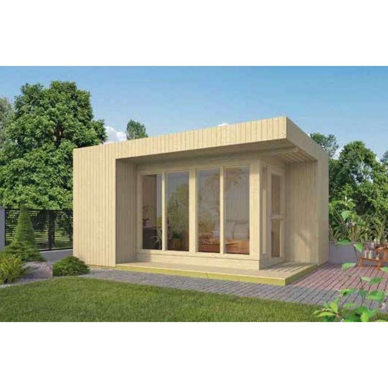 bureau de jardin a toit plat 16m2 ELIN TUINDECO