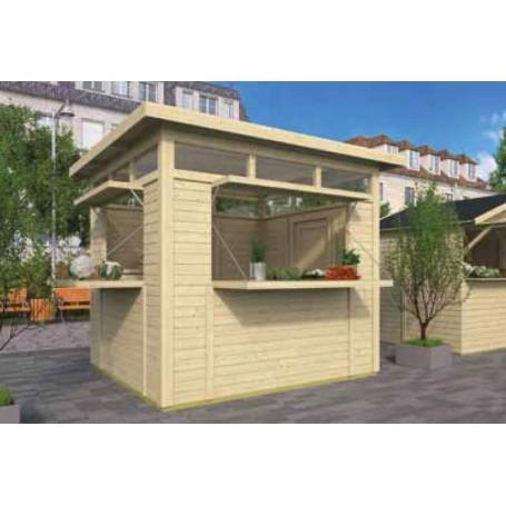 Kiosque moderne en bois