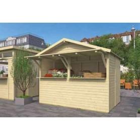 Kiosque standard en bois pour boutique snack TUINDECO