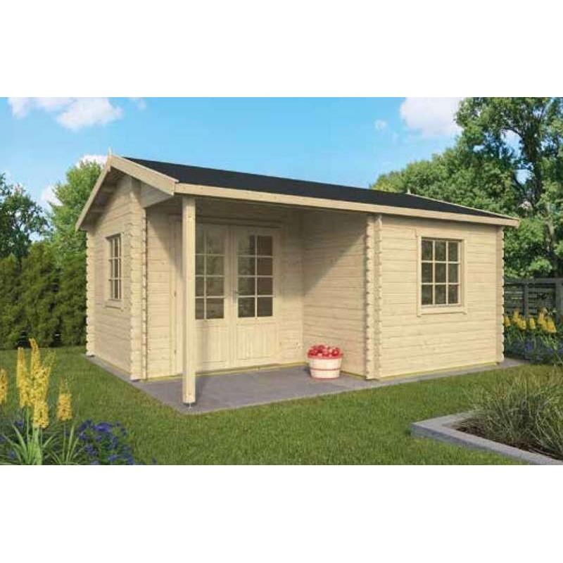 Cabane de jardin en bois - Chalet en bois en kit 20m2 JOHAN