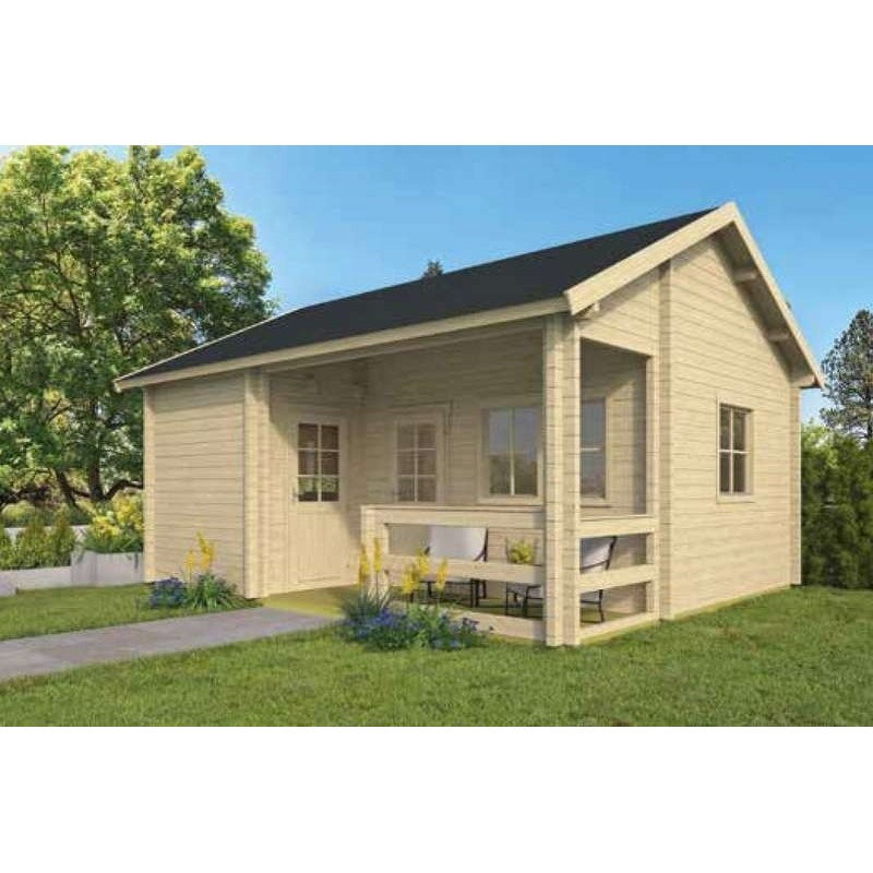Chalet habitable 30m2 510x600cm EDELWEISS TUINDECO