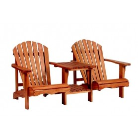 Banc de jardin relax en bois dur LOVESEAT