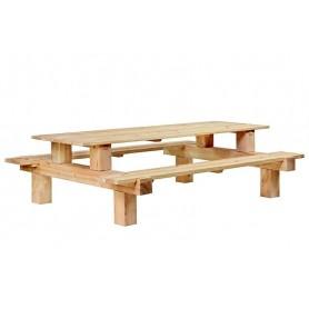 Table de pique-nique en mélèze/douglas Boss