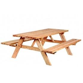 Table de pique-nique en mélèze/douglas Classic