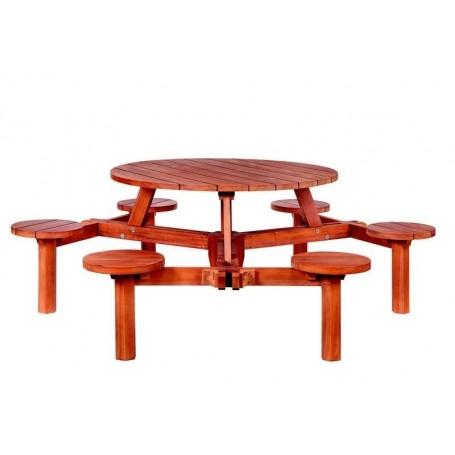 Table de pique-nique Rondo en bois dur
