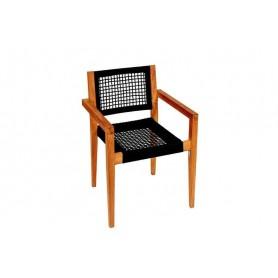 Chaise-fauteuil de jardin en teck Toledo TUINDECO