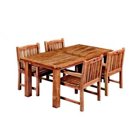 Table de jardin en teck 250cm Modern