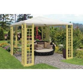 Kiosque de jardin en bois pool house en kit jardin et - Kiosque de jardin en aluminium ...