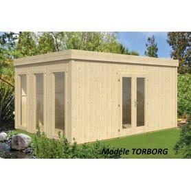 Chalet toit plat mono pente abri de jardin toit plat mone pente jardin et chalet - Abri de jardin habitable toit plat ...