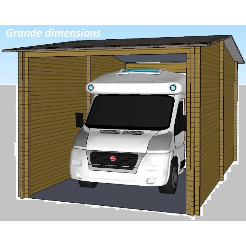 Garage en bois Camping-car ou Bateau 32m2