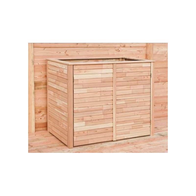 ... Cache-poubelles > Abri cache poubelle double en bois mélèze/douglas
