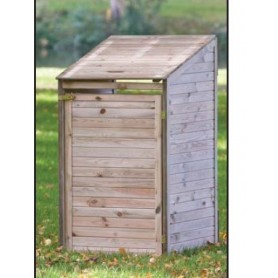 abri cache poubelles en bois special jardin simple ou. Black Bedroom Furniture Sets. Home Design Ideas