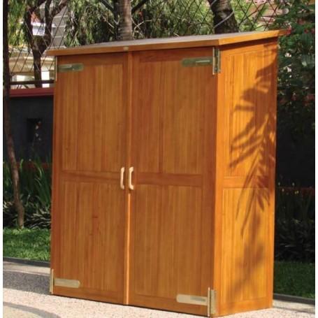 Armoire de jardin double MONTEVIDEO en bois dur