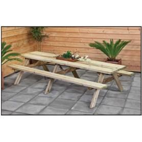 Table de pique nique en bois, plusieurs dimensions