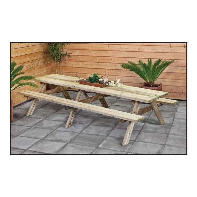 Table de picnic en bois, plusieurs dimensions