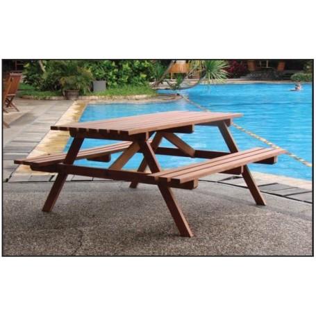 Table de pique-nique en bois dur ECONOMIE