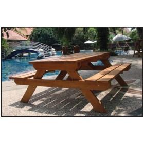 Table de pique-nique en bois dur CONFORT