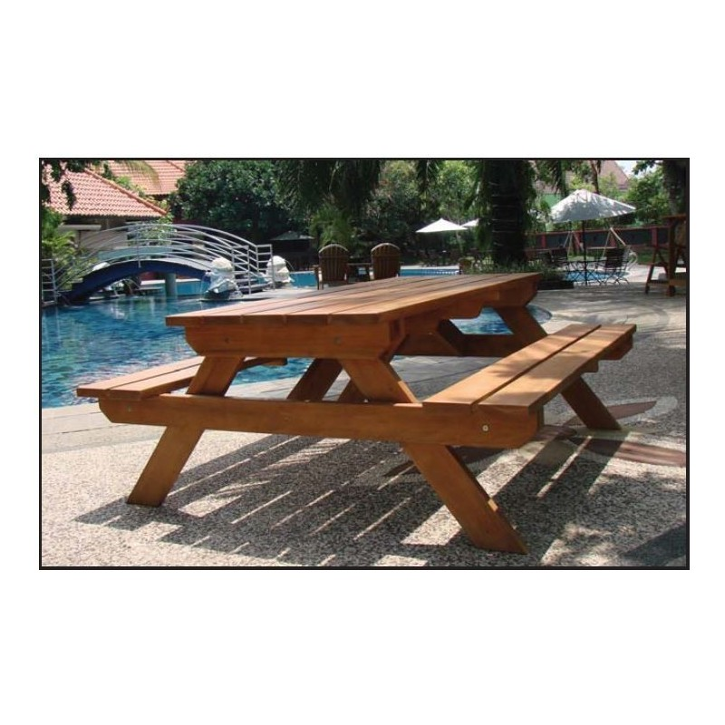 Tablle de picnic CONFORT en bois dur