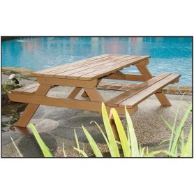 Table de picnic BUSINESS en bois dur