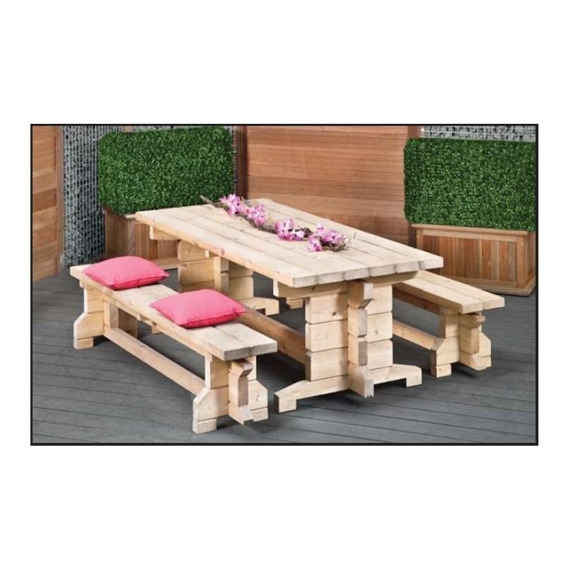 Table de picnic en profilé de chalet
