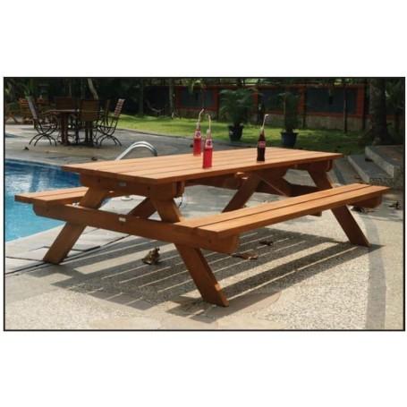 Table de pique-nique en bois dur GEANTE