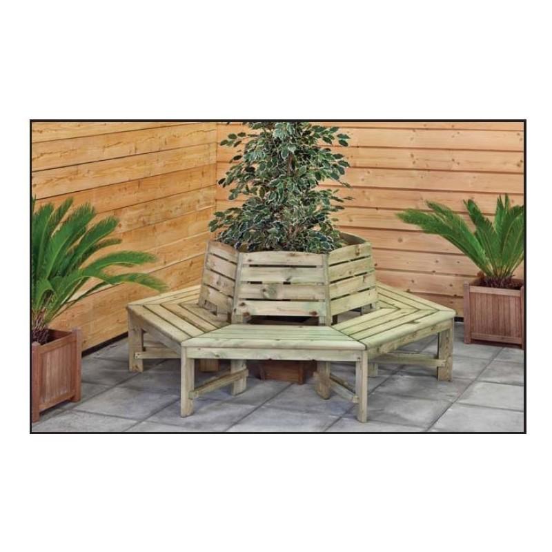 banc exterieur tour d 39 arbre avec dossier epaisseur 3cm diametre 185cm. Black Bedroom Furniture Sets. Home Design Ideas