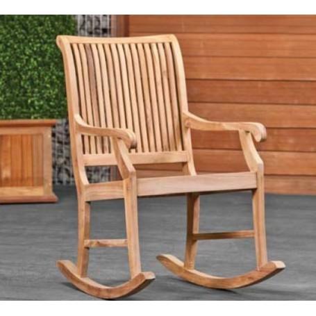 Chaise à bascule en bois RELAX (Teck)