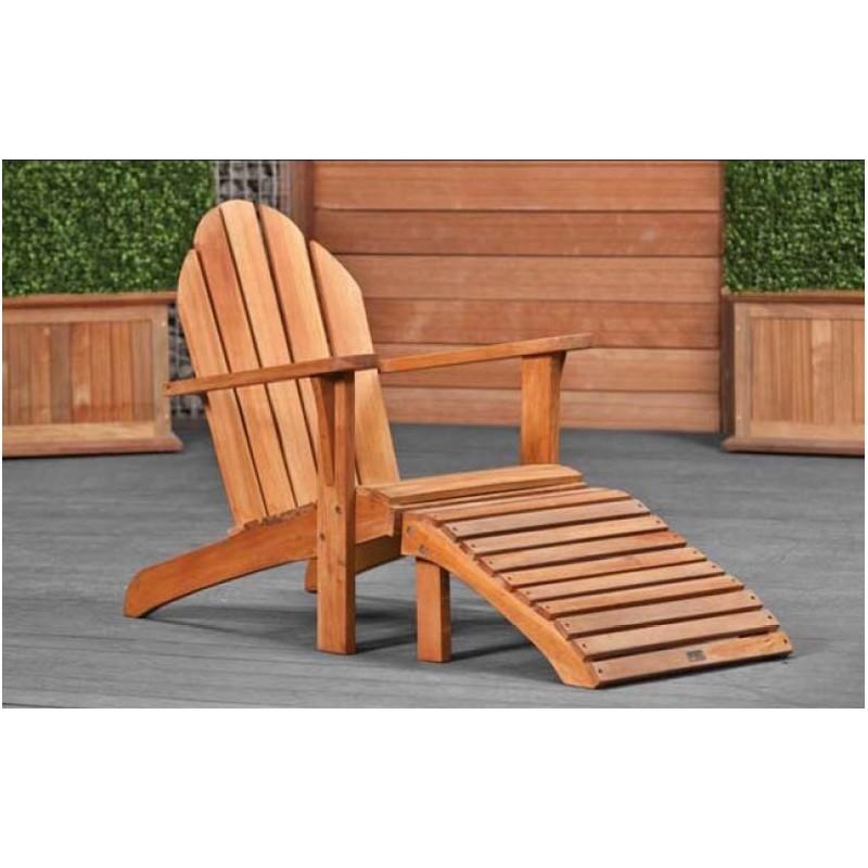 Chaise relax de jardin en bois dur