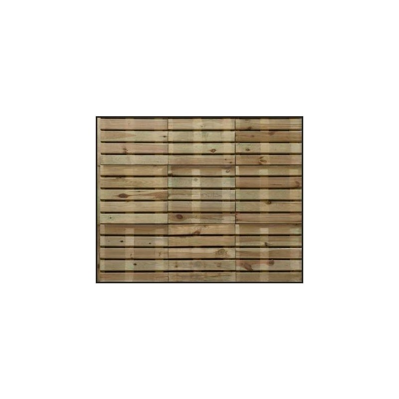 Dalle de jardin en bois modele droit special exterieur pas for Dalle chauffante exterieur