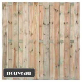 Ecran de jardin brise vue en bois Uden