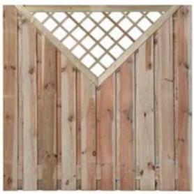 Ecran de jardin brise vue en bois Enshede Supérieur 180x180