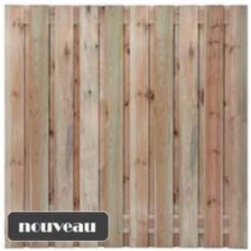 Ecran de jardin bois brise vue pin impregne rabote vis acier 180x180 - Brise vue jardin bois creteil ...