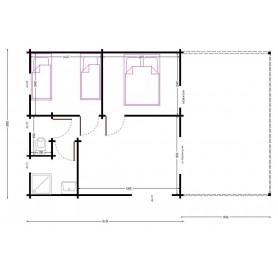 Chalet habitable 2 chambres 35m2 + terrasse 20m2
