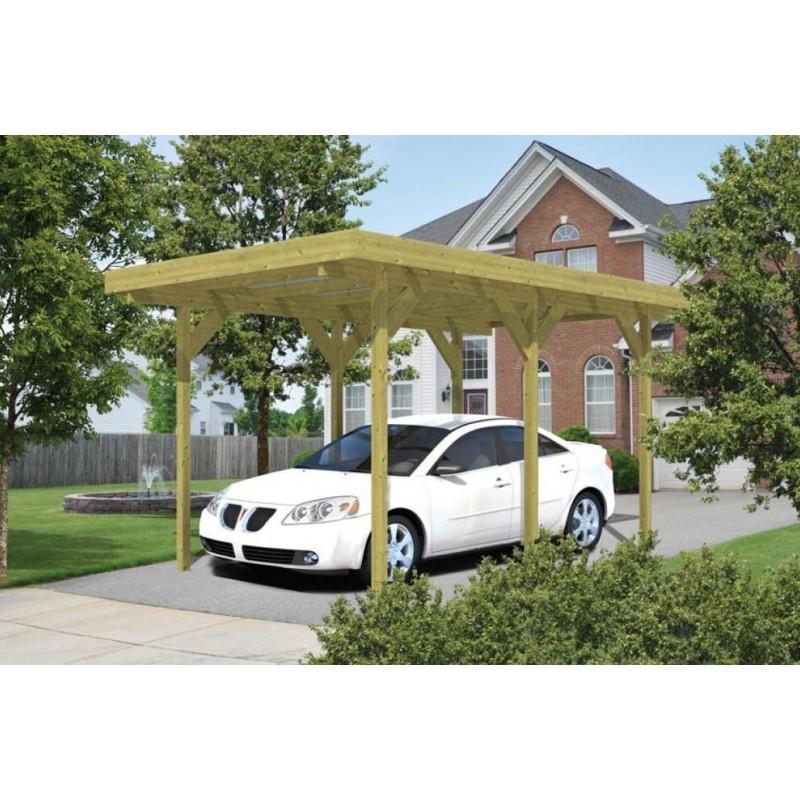 Carport Simple/annexe toit plat kit bois garage voiture