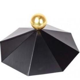 Chapeau pour chalet bois toit octogonal