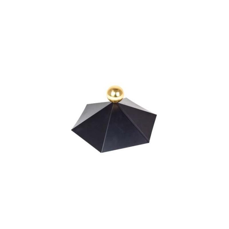 Chapeau pour chalet bois toit hexagonal TUINDECO