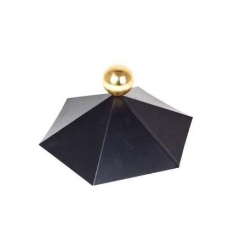Chapeau pour chalet bois toit hexagonal