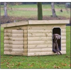 Niche à chien en bois Buldog