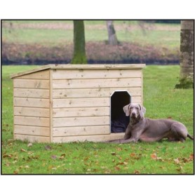 Niche a chien en bois Teckel