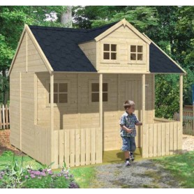 maisonnette pour enfant peter pan veritable chalet bois livr en kit. Black Bedroom Furniture Sets. Home Design Ideas