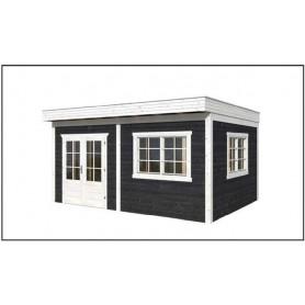 salon de jardin yorick kit 45mm 19m2 fenetres double vitrage toit plat. Black Bedroom Furniture Sets. Home Design Ideas
