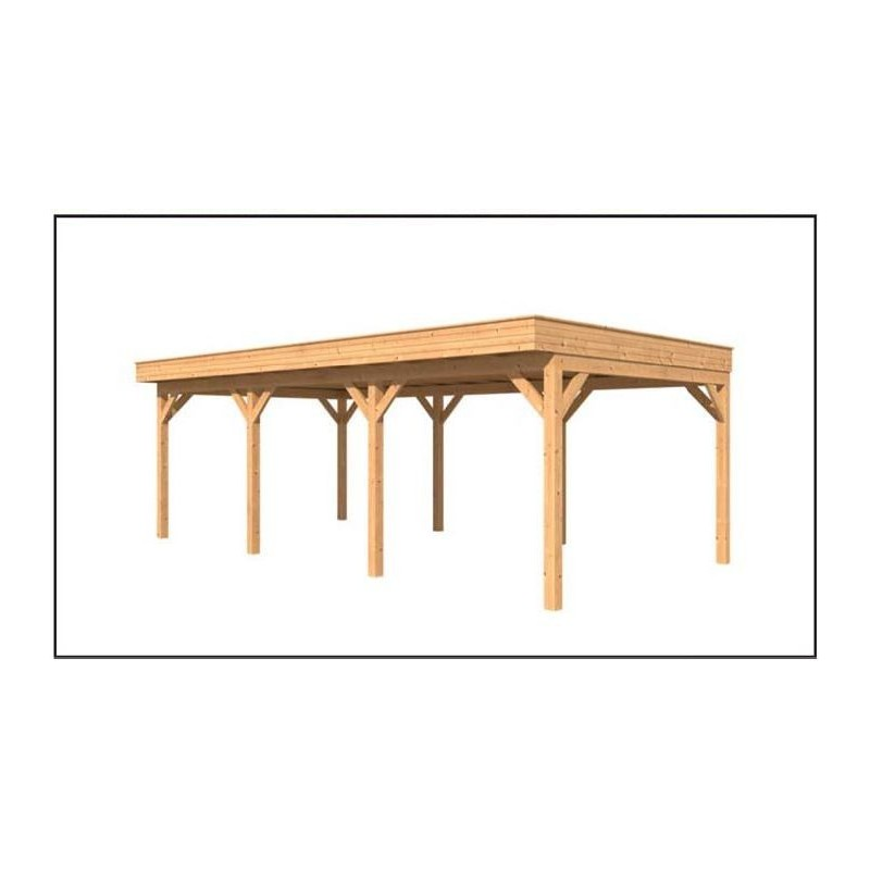 Abri carport toit plat 30m2 en m l ze douglas demande travaux offert - Abri jardin toit plat m creteil ...