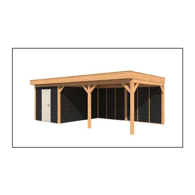 carport avec abri de jardin integre carport abri de jardin en bois carport avec abri de. Black Bedroom Furniture Sets. Home Design Ideas